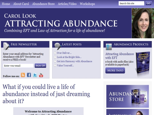 Carol Look – Attracting Abundance with EFT